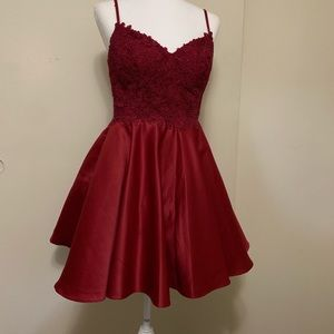 Ruby red sequence dress